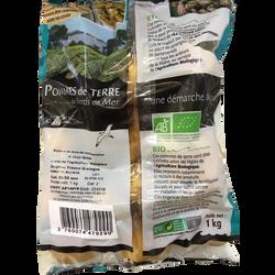 Pomme de terre Allians, de consommation à chair ferme, BIO, Calibre 35/55mm, Catégorie 2, France, sachet 1kg