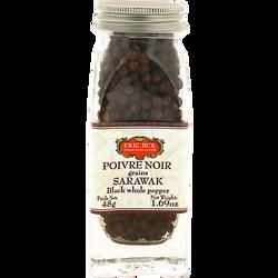 Poivre noir en grains Sarawak ERIC BUR, 48g
