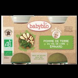Pot pomme de terre épinard BABYBIO, dès 4 mois, 2x130g soit 260g