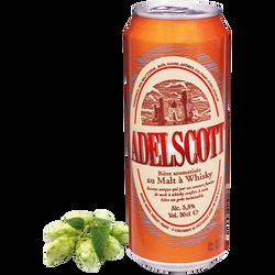Bière au malt à whisky ADELSCOTT, 5,8°, canette de 50cl