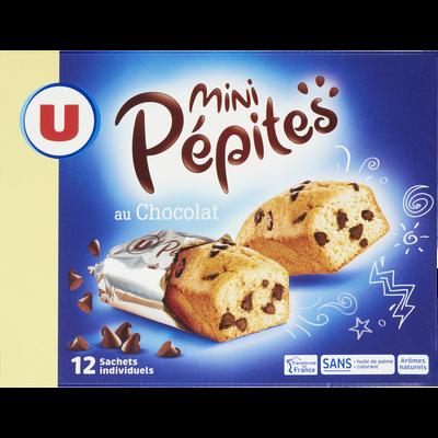 Mini gateaux pépites chocolat U, paquet de 360g