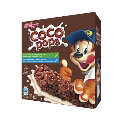 Barres petit déjeuner coco pop's KELLOGG'S, 6x20g