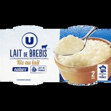Riz au lait de brebis nature,U ,2X140g