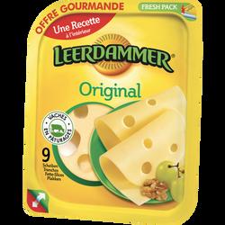 Fromage pasteurisé Original LEERDAMMER, 2.5%MG, x9 soit 225g