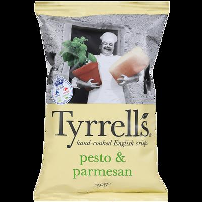 Chips de pomme de terre pesto parmesan TYRRELLS, sachet de 150g