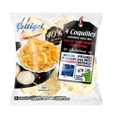 Coquilles noix St Jacques bretonne label rouge CELTIGEL, 320g