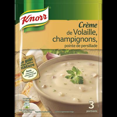 Crème de volaille champignons déshydratée KNORR, sachet de 75g, 75cl