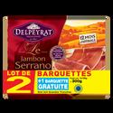 Delpeyrat Jambon Serrano 12 Mois , 2x4 Tranches + 1 Offert Soit 300g