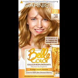 Coloration permanente BELLE COLOR, blond miel ambré, n°7.33