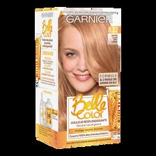 Coloration permanente, BELLE COLOR, blond miel clair n°8.32