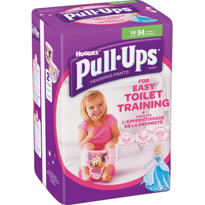 Couches culottes pour filles Pull Ups HUGGIES, taille 5, x14