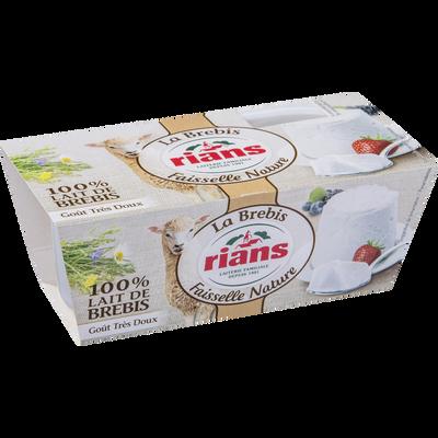 La Faisselle au lait de brebis pasteurisé RIANS, 4,5%MG,RIANS,2x100g