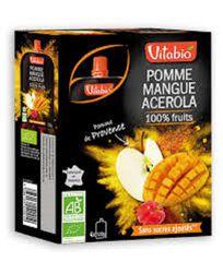Gourde Pomme-Mangue-Acérola Bio Vitabio 4x120g