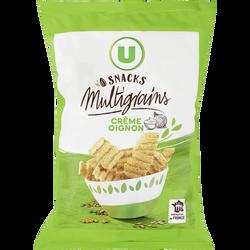 Snacks multigrains crème oignon U, sachet de 85g