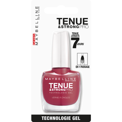 Vernis à ongles Tenue&Strong pro 202 really rose GEMEY MAYBELLINE, blister