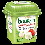 Boursin Fromage Pasteurisé Ail Et Fines Herbes Pour Salade & Apéritif 40% De Matière Grasse Boursin, 120g