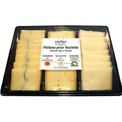 Plateau raclette lait pasteurisé-cru thermisé saveurs des 3 monts 29%de MG ENTREMONT TERROIRS ET SELECTION,  600g