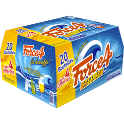 Panaché FORCE 4 0,8° pack ble 20x25cl dont 4 offert