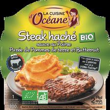 Steak sauce au poivre purée de pomme de terre & butternut Bio LA CUISINE OCEANE, 300g