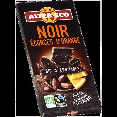 Chocolat noir orange Bio ALTER ECO, tablette de 100g