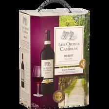 Cambras Vin Rouge De Pays D'oc Merlot, Les Ormes De , Fontaine À Vin De5l
