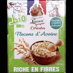 Céréales pétales flocon d'avoine BIO LUCIEN GEORGELIN, paquet de 500g