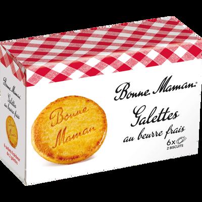 Galettes au beurre frais BONNE MAMAN, 12 pièces, 170g