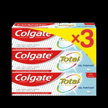 Colgate Dentifrice Total Classique Colgate Tube 3x75ml