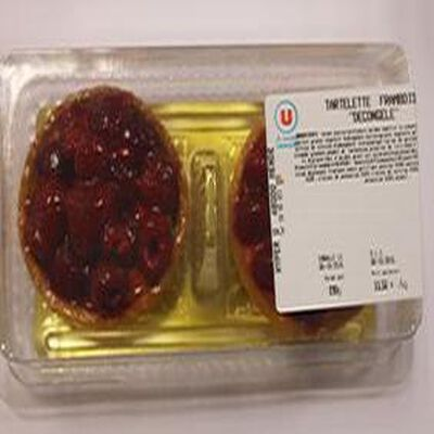 Tartelette framboises x2  décongelé  190g