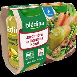 Petits pots pour bébé jardinière de légumes et boeuf BLEDINA, dès 6 mois, 2x200g