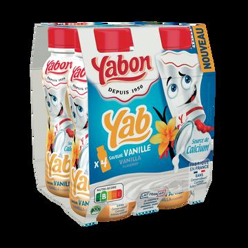 Yabon Lait Fermenté Aromatisé Vanille Yabon 4x20cl