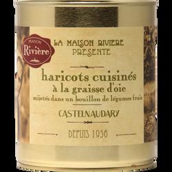 Haricots cuisinés à la graisse d'oie MAISON RIVIERE, boîte de 820g