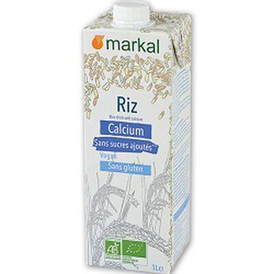 Boisson végétale BIO riz calcium, MARKAL, brique de 1l