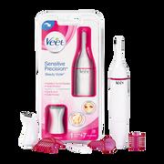 Veet Kit Dépilatoire Sensitive Précision Veet, 1 Appareil Styler + 7 Accessoires