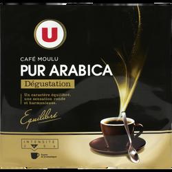 Café moulu torréfié 100% arabica dégustation U, 2x250g