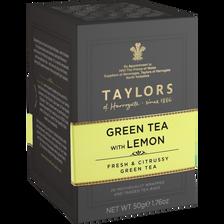 Thé vert au citron TAYLORS, 20 sachets de 50g