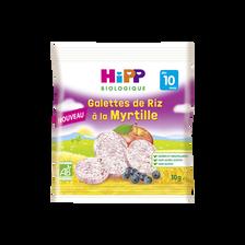 Galettes de riz à la myrtille bio dès 10 mois HIPP, sachet de 30g