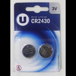 Pile U CR2430, 2 unités