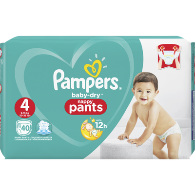 Couches baby dry pants PAMPERS, 9-14kg geant taille 4 x40
