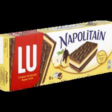 Napolitain signature chocolat poire LU, paquet de 174g
