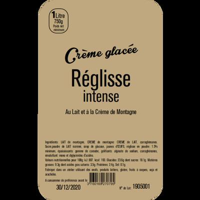 Crème glacée réglisse intense LA TURBINE A SAVEURS, 1 litre