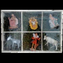 Coffret personnages de la Sainte Famille 24x16x4cm