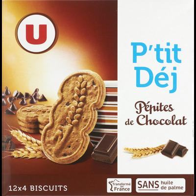 P'tit déj pépites de chocolat U, paquet de 600g