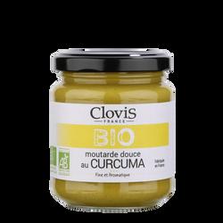 Moutarde douce au curcuma bio CLOVIS, 200g