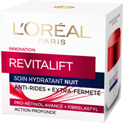 Soin de nuit hydratant pro-rétinol+fibrelastyl revitalift anti-rides+extra fermeté DERMO EXPERTISE, 50ml