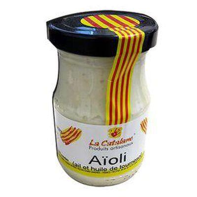 AIOLI à l'ail et à l'huile de tournesol, pot de 140G - LA CATALANE