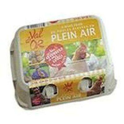 Boîte de 6 Œufs Plein Air - Ca