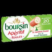 Boursin Fromage Pasteurisé Ail Et Fines Herbes Roulé Au Jambon Fumé 33% De Matière Grasse Boursin, 100g