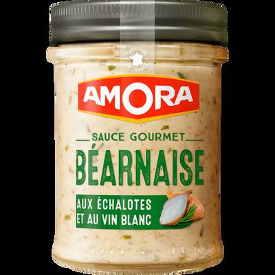 Sauce gourmet béarnaise échalote vin blanc AMORA, bocal de 184g
