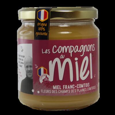 Miel de fleurs des champs des plaines comtoises COMPAGNONS DU MIEL, 375g